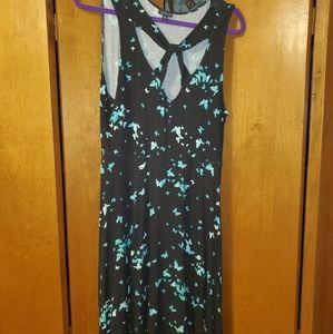 Torrid size 2 turquoise butterfly skater dress